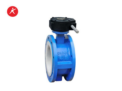 High Performance Fluorine Lined Flanged Butterfly Valve for Water (D41FEP/PFA/PTFE)