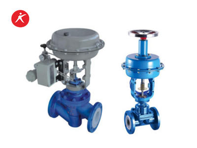 Fluorine Lined Pneumatic Pressure Control Valve For Water (J641FEP/PFA)