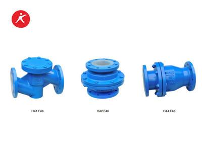 Fluorine Lined Stainless Steel Water Check Valve Wholesale (H41FEP/PFA, H44FEP/PFA, H42FEP/PFA)